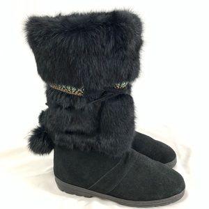 Fabulous Minnetonka Fur and Suede Boots